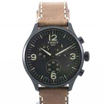 Gents Black on Tan Strap