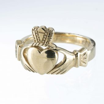 9ct Gold Heavy Claddagh Ring