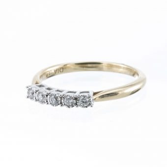 9ct 5 Stone Diamond Eternity Ring