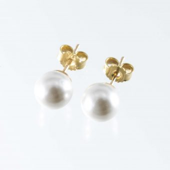 Cultured Pearl 9ct Gold Earrings