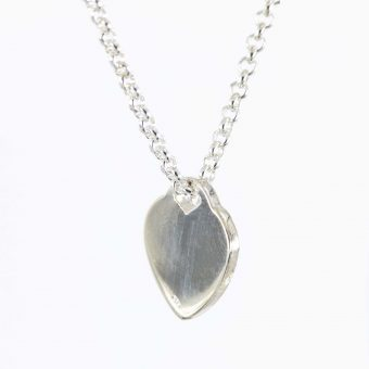 Silver Heart Shaped Disc