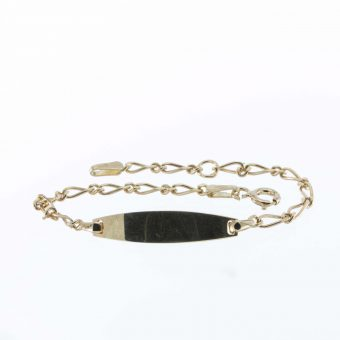 Childs 9ct Gold Identity Bracelet