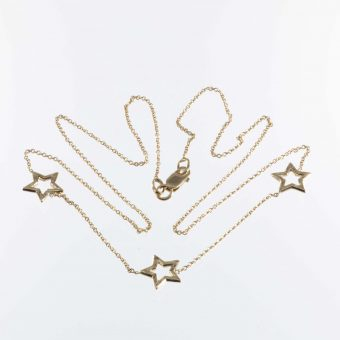 9ct. Gold Star Necklet
